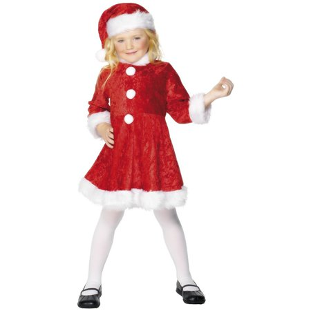Miss Santa Child Costume - Large (Cute Santa Girl Costumes)