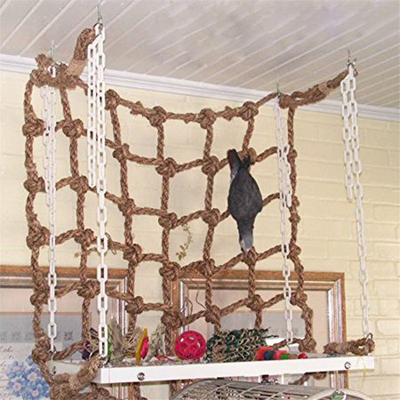 Moaere Parrot Birds Climbing Ladder Play Net Jungle Fever Rope Cockatiel Animals Rope Toys Special Offer