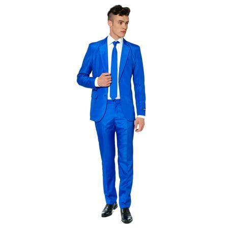Suitmeister Men's Solid Blue Solid Suit