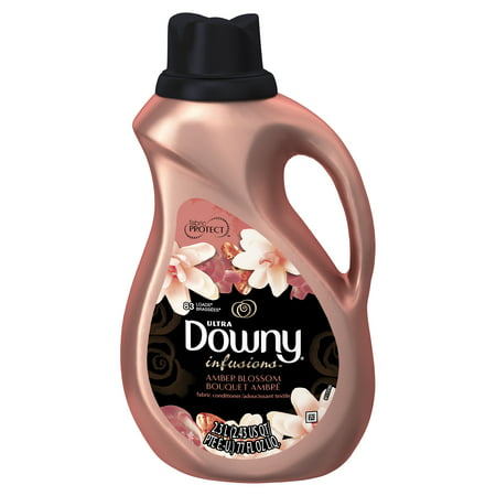 Ultra Downy Infusions Amber Blossom Liquid Fabric Conditioner, 77 FL Oz Ultra Downy Fabric