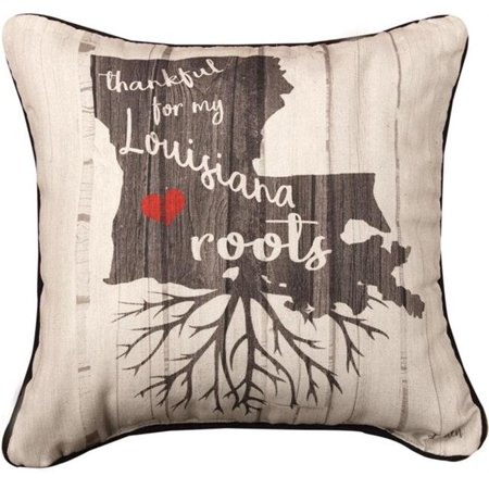 Manual Woodworkers & Weavers SDPTLA 12 x 12 in. Thankful for My Roots Louisiana KA