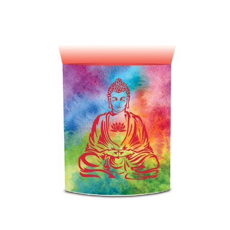 CoTa Global CoTa Global Color Changing LED Light Lantern Peace Buddha Art Design Home Garden Décor 6.5 Inch Handcrafted Lamp Accent Bedroom Living Room Indoor Outdoor Portable Lanterns Party Lights De - Portable Party Lights