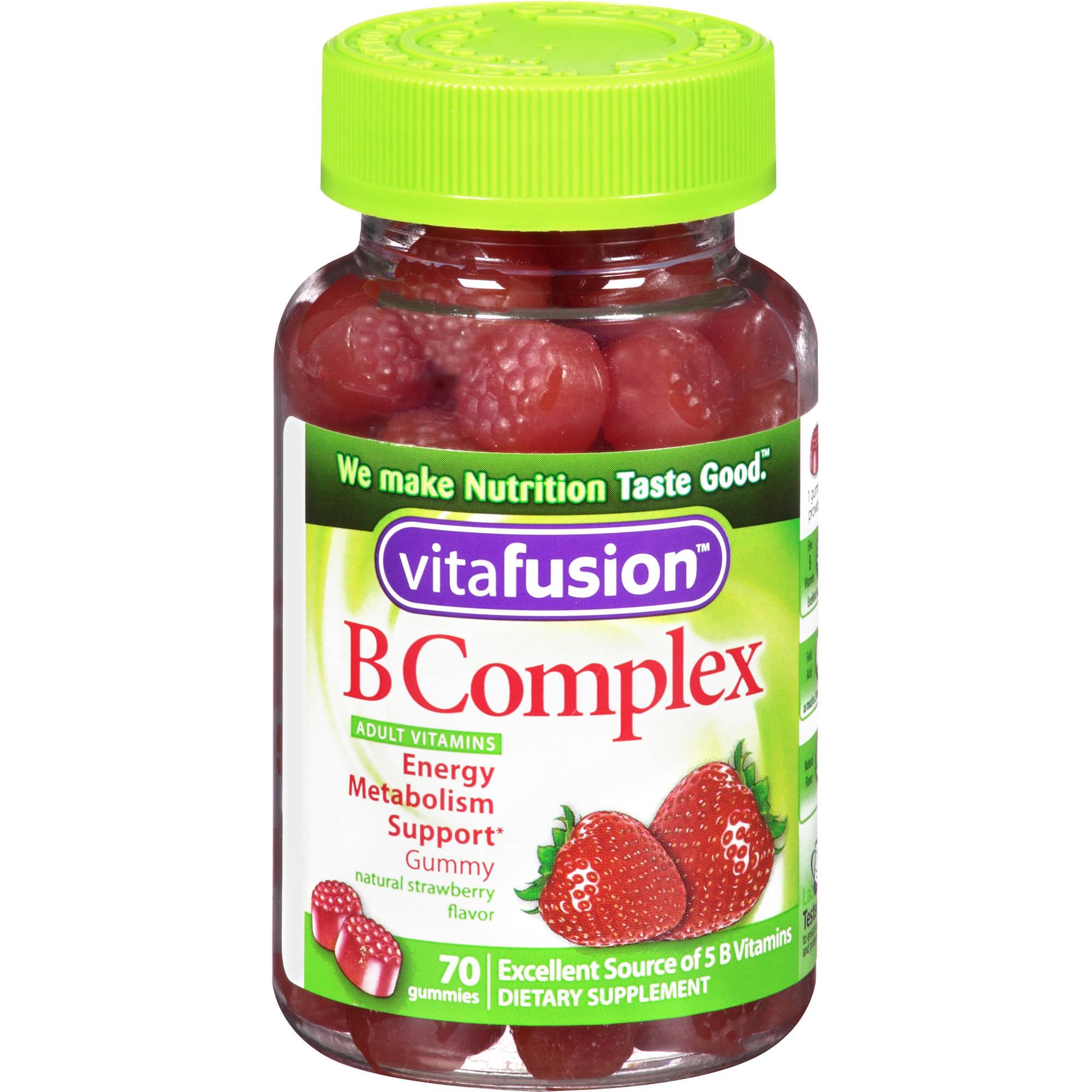 Vitafusion B Complex Gummy Vitamins, 70 count