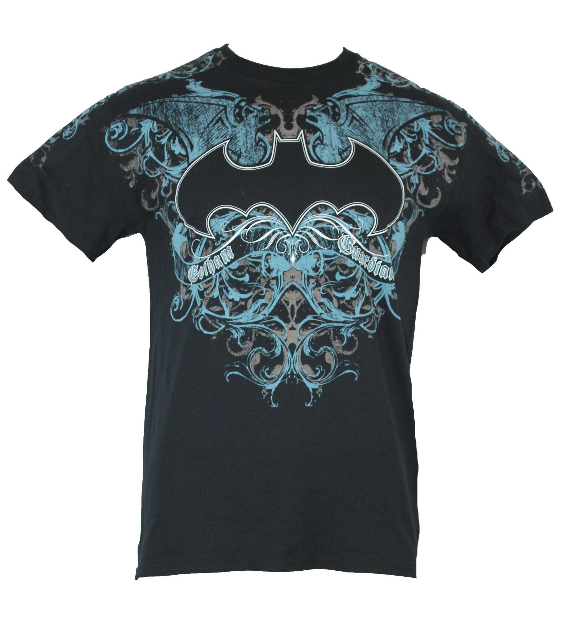 954265b3 Batman (DC Comics) Mens T-Shirt - Gotham Guardian Blue Ornate ...