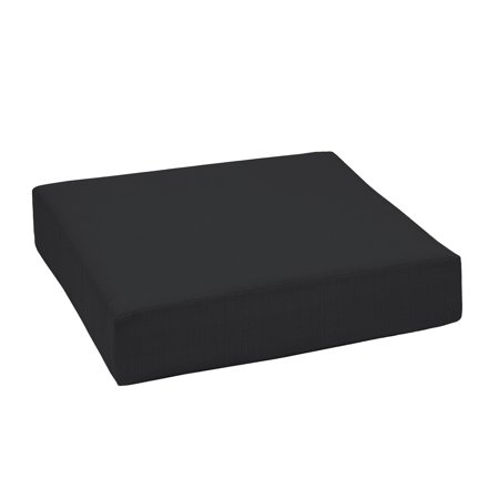 Better Homes & Gardens Black 24 X 24 In. Outdoor Deep Seating Seat Cushion W Enviro Guard by Better Homes & Gardens