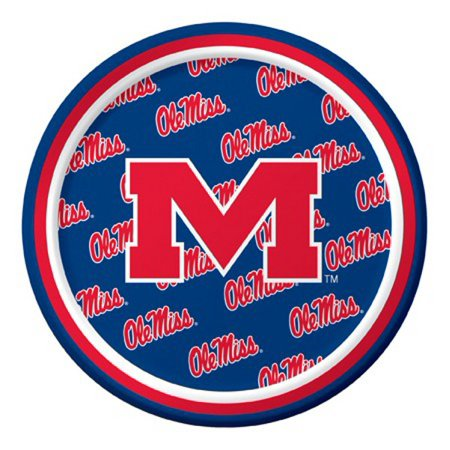 Ncaa Tailgate Party Pack (Pack of 96 NCAA Ole Miss Rebels Round Tailgate Party Paper Plates 7
