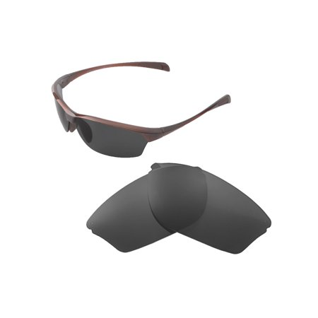 Walleva Black Polarized Replacement Lenses for Maui Jim Hot Sands (Maui Jim Sand Island Sunglasses)