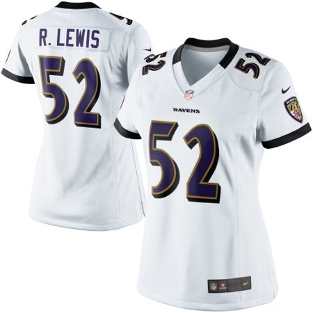 sports shoes c5c3a a96d8 Ray Lewis Baltimore Ravens Nike Women's Game Jersey - White