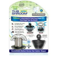 TubShroom Ultra Revolutionary Stainless Steel Bath Tub Drain Protector Hair Catcher