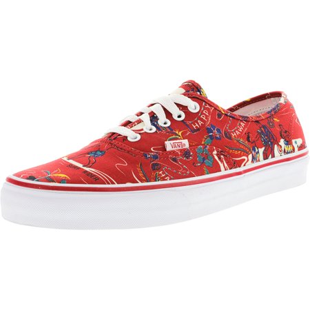 1392d3bc40 Vans - Vans Men s Authentic Hoffman Red   Happy Hawaii Ankle-High Canvas  Skateboarding Shoe - 11M - Walmart.com