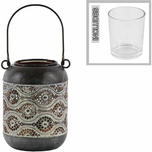 Urban Trends Collection: Metal Lantern, Coated Finish, Black