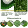 Artificial Grass Turf Indoor Outdoor Garden Lawn Landscape Synthetic Grass Mat - Thick Fake Grass Rug With Drainage Holes