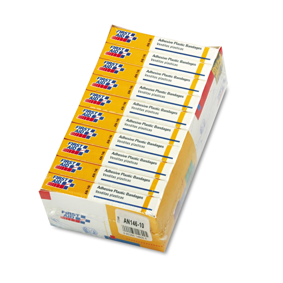 "First Aid Only Plastic Adhesive Bandages, 1"" x 3"", 160/Pack"