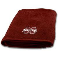 "NCAA Mississippi State Bulldogs Cotton 25"" x 50"" Applique Bath Towel, 1 Each"