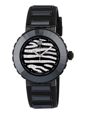 Swarovski New Octea Sport Quartz Steel Black Rubber Strap Womens Watch 5040563