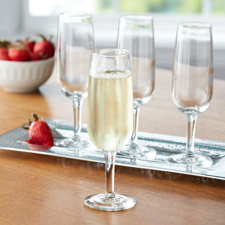 E71 Champagne (Mainstays 6.25-Ounce Champagne Flute Glasses, Set of 12 )