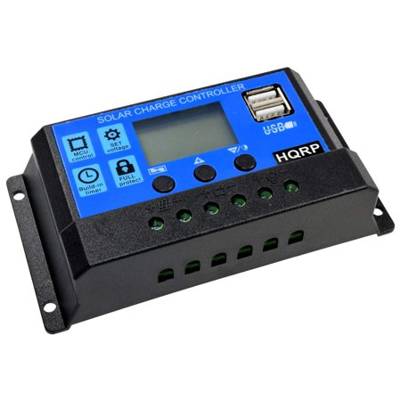 HQRP 10A Small Solar Power Station / Battery Charge Controller for Charger Lead Acid Battery plus HQRP UV Meter ()