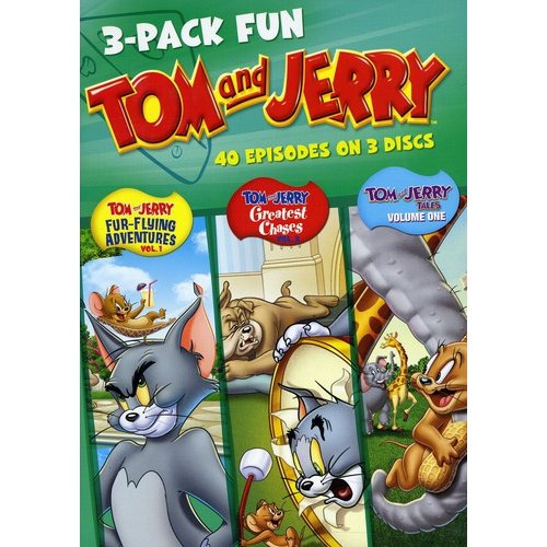 3-Pack Fun: Tom And Jerry - Fur Flying Adventures Vol. 1 / Greatest Chases Vol. 2 / Tom And Jerry Tales Vol. 1 (Full Frame)
