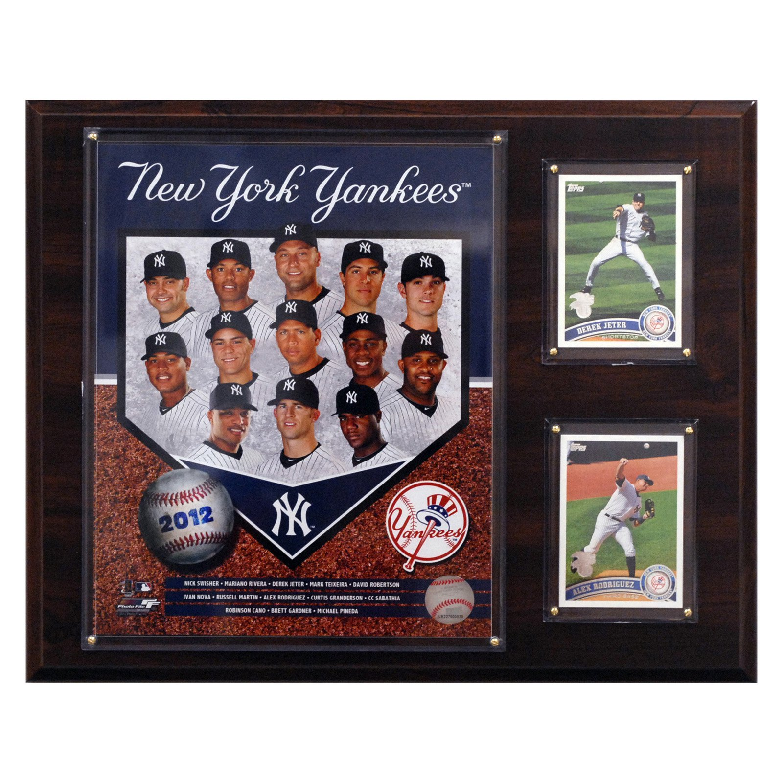 "C&I Collectibles MLB  New York Yankees 2012 Team Plaque 12""x15"""
