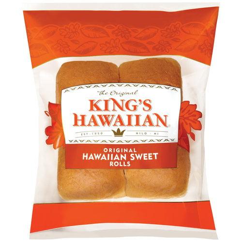 King's Hawaiian Original Hawaiian Sweet Rolls, 4 count, 4.4 oz