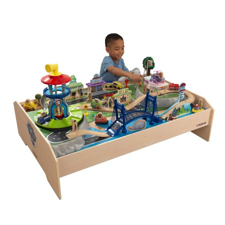 PAW Patrol Adventure Bay Train Table By KidKraft with 73 accessories (Adventure Table)
