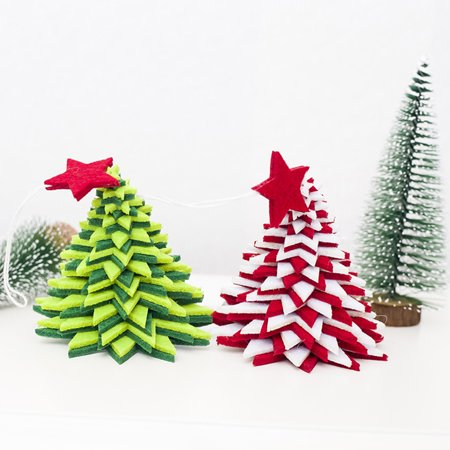 babydream1 Christmas Flannel Door Hanging Decor Star Xmas Tree Bell Metal Pendant Ceiling Decorations - image 3 of 9