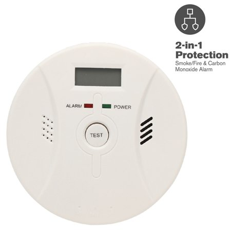 CO Smoke Detector Combor Carbon Monoxide Detector and Smoke Alarm Battery Operated and Voice (First Alert Carbon Monoxide Detector Chirping 5 Times)