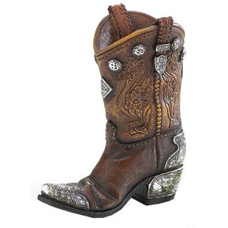 Spurs For Boots (Boots And Spurs Western Cowboy Boot Vase For Western Home Decor, Hand painted resin with raised details By Burton)