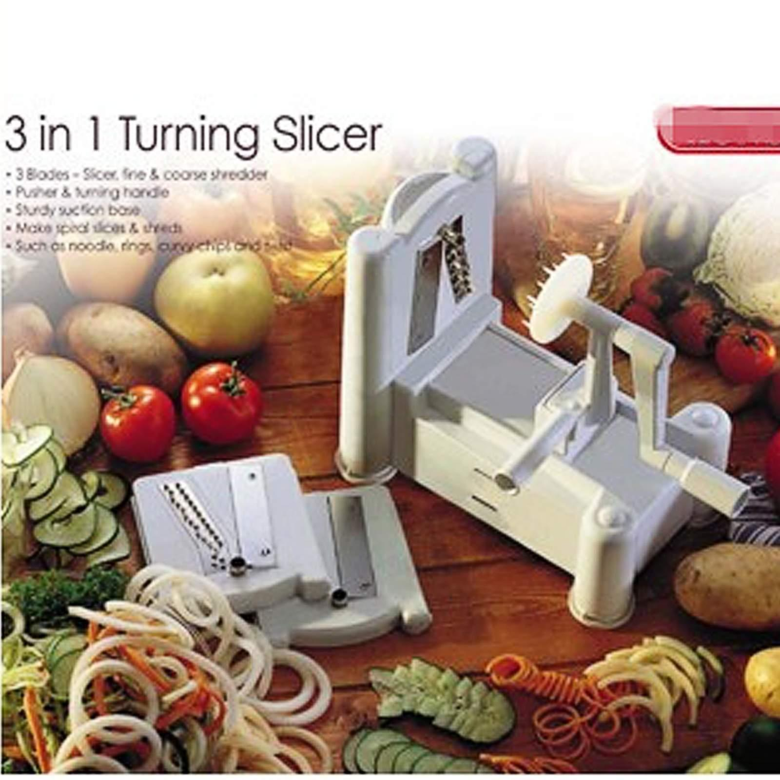 3 in 1 Spiral Kitchen Tool Multi Vegetable Fruit Chopper Dicer Kitchen Cutter by