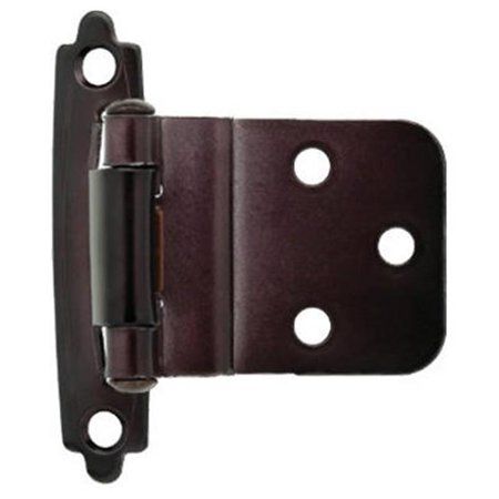 Self Closing Centerset - Liberty Hardware H0104AL-500-U 2 Pack Self Closing Inset Hinge, Bronze - 0.38 in.