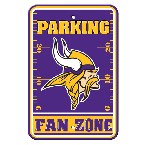 """FREMONT DIE Inc Minnesota Vikings Plastic Parking Sign - Fan Zone Plastic Parking Sign - Fan Zone"""