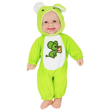 """16"""" Battery Operated Adorable Talking Baby Doll in A Green One, with Baby Sounds and Phrases"""