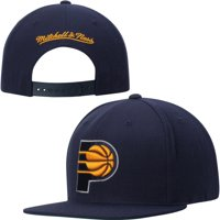 Indiana Pacers Mitchell & Ness Current Logo Solid Wool Adjustable Snapback Hat - Navy Blue - OSFA