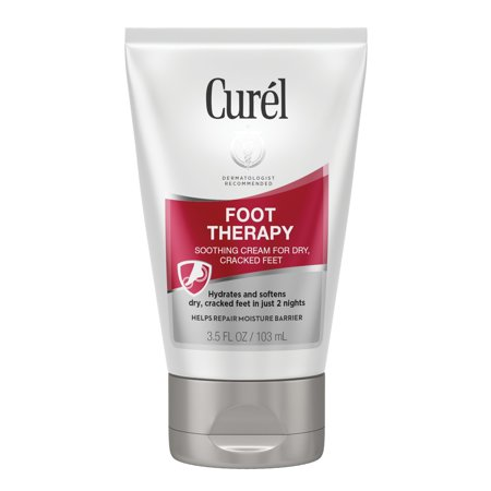 Curel Foot Therapy Cream, Soothing Cream for Dry & Cracked Feet, 3.5 Ounces Dry Skin Therapy Foot Cream