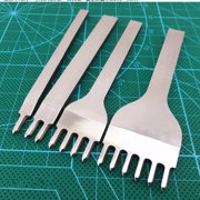 6mm Leather DIY Prong Craft Tools Hole Punches Lacing Stitching Punch Tool 1-6 Hole