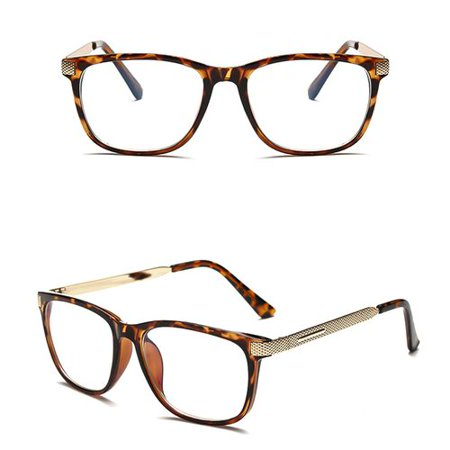 KABOER 1 PCS Fashion Cool Glasses Women Retro Vintage Reading Myopia Eyeglasses Frame Men Square Glasses Optical Clear Eyewear Eyeglasses (Vintage Style Eyeglass Frames)