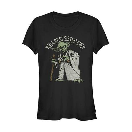 Star Wars Juniors' Yoda Best Sister Ever T-Shirt (Best American Apparel Ads)