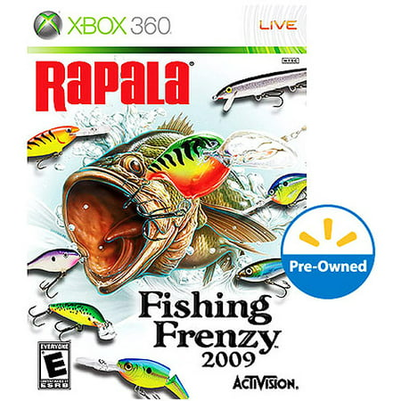 Rapala fishing frenzy 2009 xbox 360 pre owned for Fishing games for xbox 360