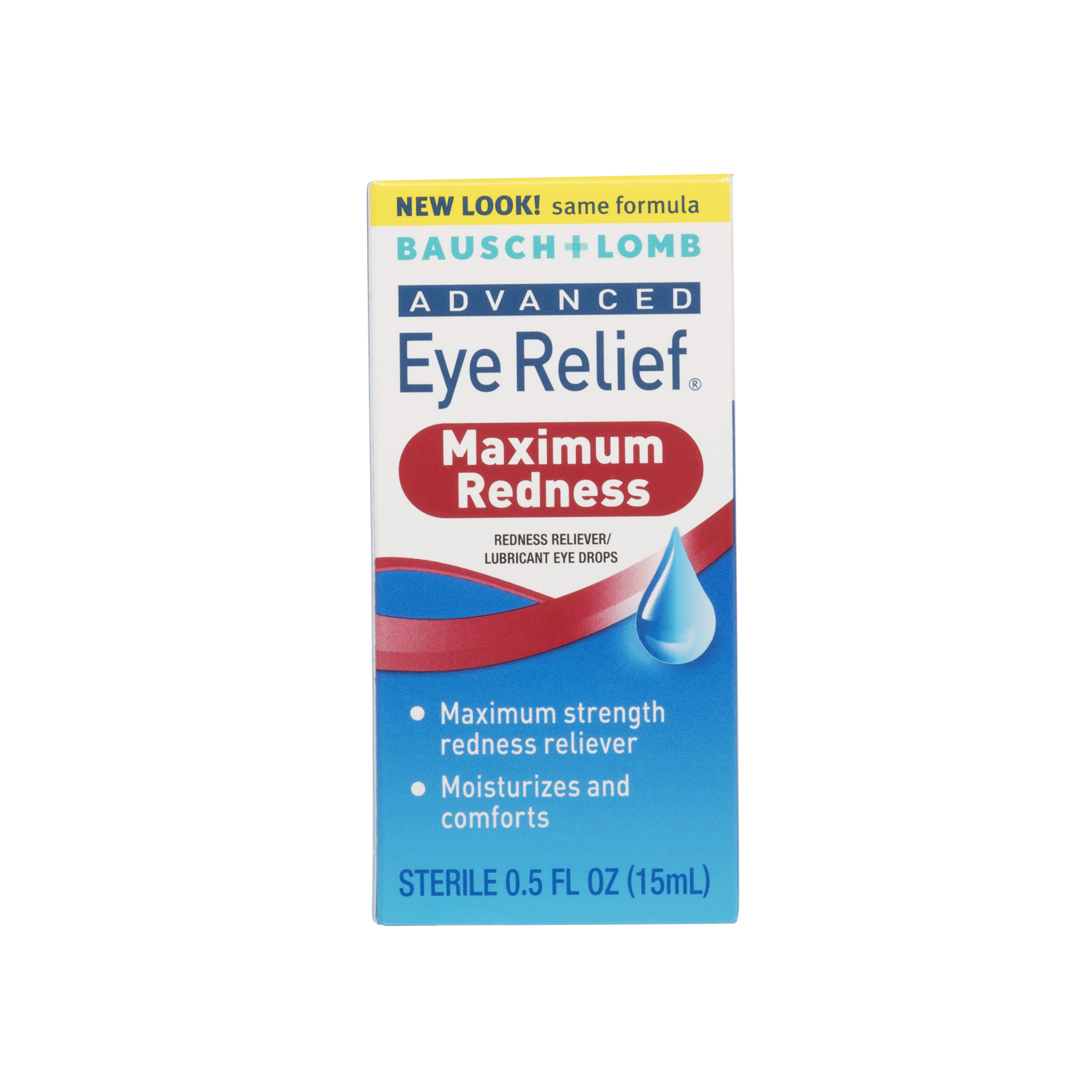 Bausch & Lomb Advanced Eye Relief Maximum Relief Lubricant/Redness Reliever Eye Drops, .5 oz