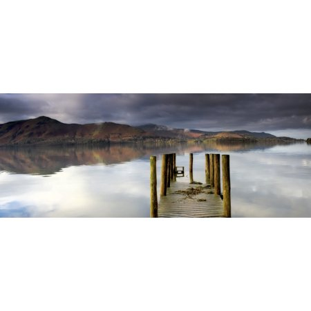 Lake Derwent Pier Cumbria England Stretched Canvas - John Short  Design Pics (26 x - Pier 26 Halloween