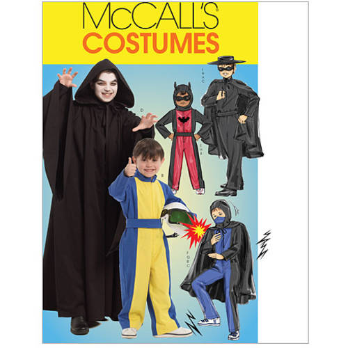 McCall's Children's and Boys' Hero Costumes, CHJ (7, 8, 10, 12, 14)