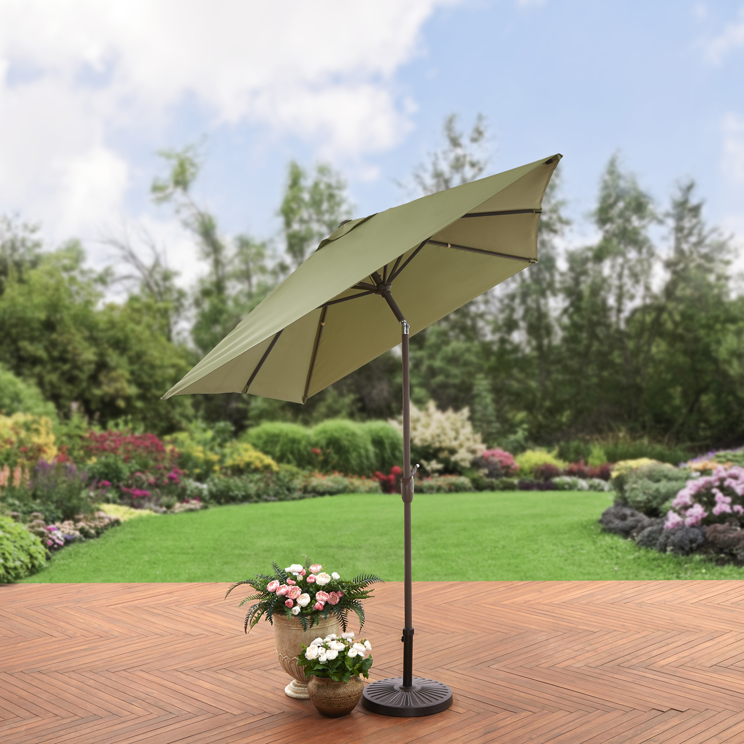 Better Homes and Gardens 6.2 x 9.6 ft. Rectangular Patio Umbrella