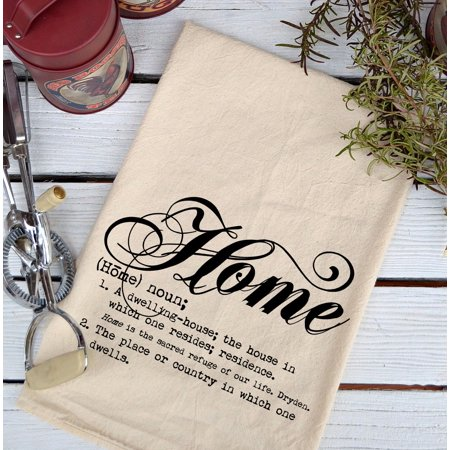 Farmhouse Natural Flour Sack Definition Home Script Country Kitchen Towel