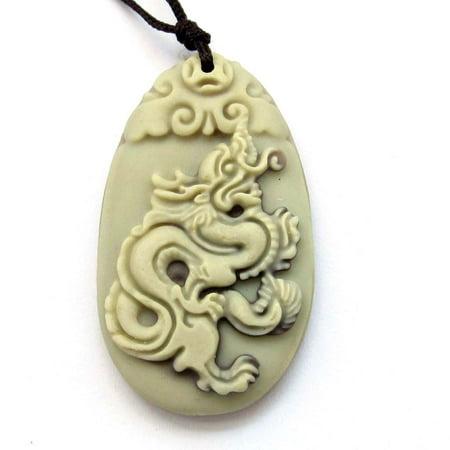 Two Layer Natural Stone Happy Lucky Chinese Zodiac Dragon Amulet Pendant 40mmx24mm Chinese Sheep Zodiac Pendant