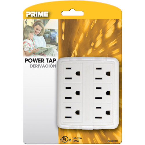 Prime 6-Outlet Power Tap