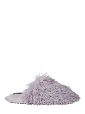 Nine WestWomen's Fluffy Pile Closed Toe Scuff Slippers