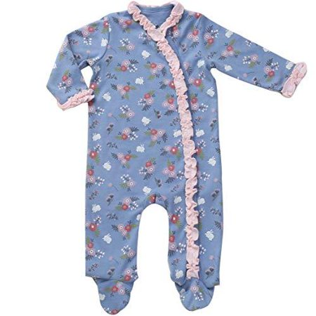 Asher & Olivia Footed Pajamas for Girls Top Baby Hat Side Snap Onesies Sleepers - RUFFLE](Cute Onesies For Juniors)