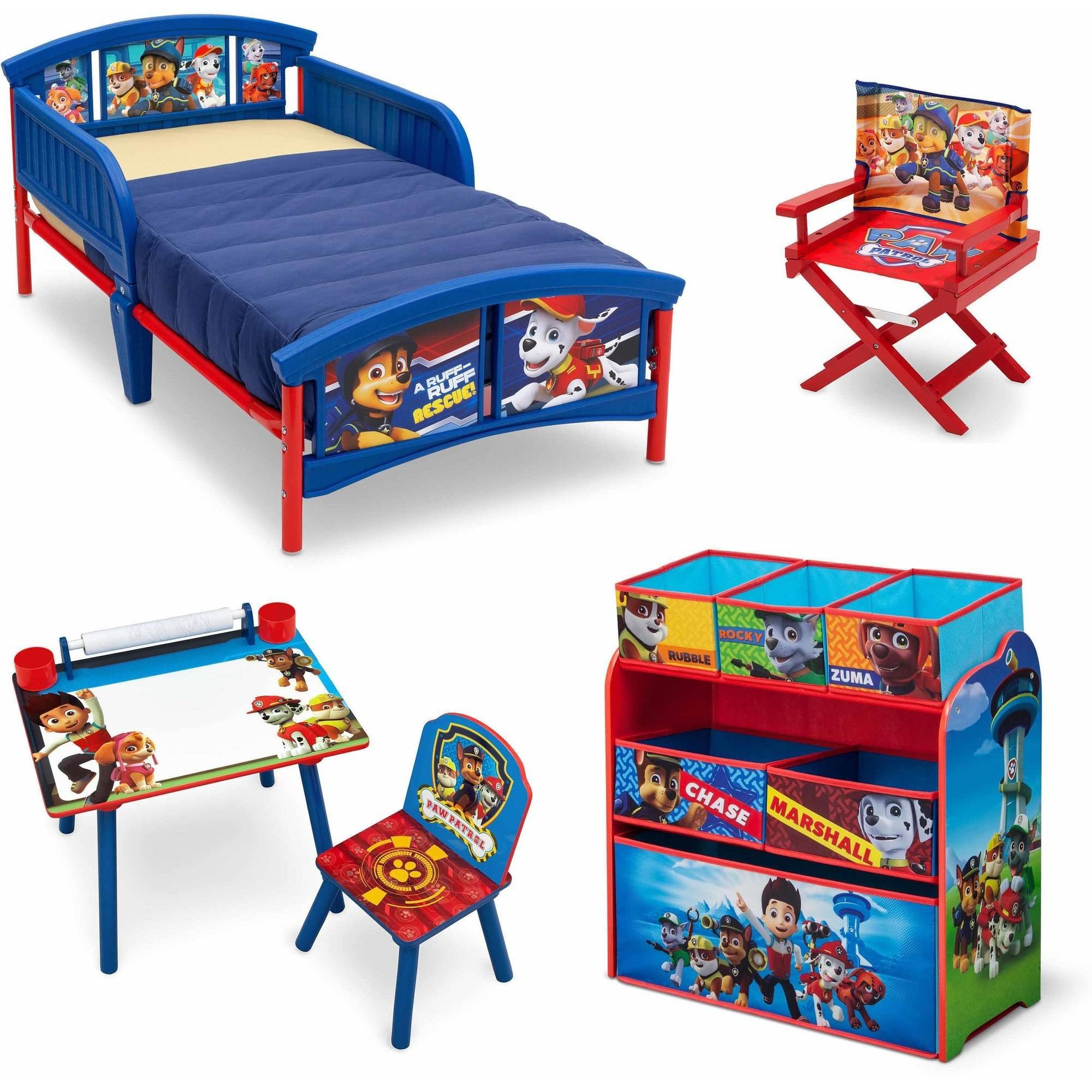 toddler bedroom in a box nick jr paw patrol room in a box with bonus chair 19967