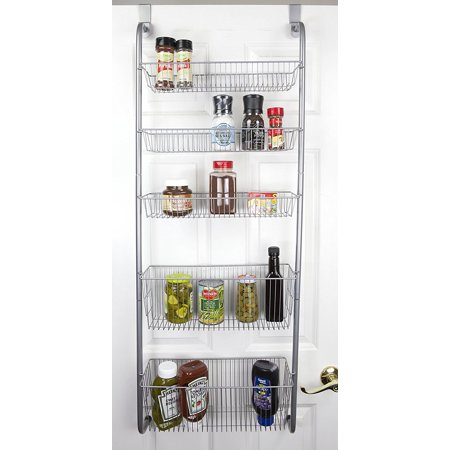 over the door pantry spice and jar rack organizer 5 tier great space saver storage for. Black Bedroom Furniture Sets. Home Design Ideas