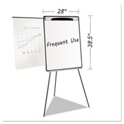 """Magnetic Gold Ultra Dry Erase Tripod Easel W/ Ext Arms, 32"""" to 72"""", Black/Silver"""
